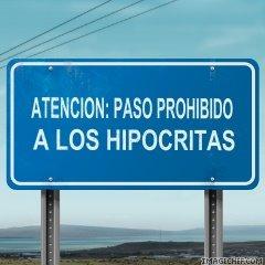 hipocritas prohibido