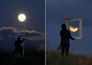 coger la luna